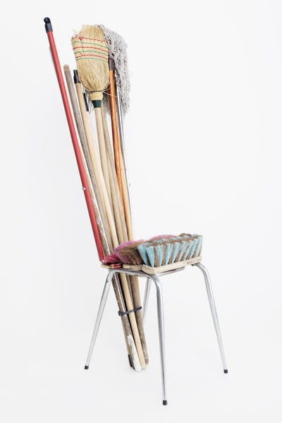 """Regis-R, Broom Chair, 2018. """"The Chair as Artwork. The Galila's Collection, Belgium,"""" (11.04.2018-12.05.2018). Latvian National Museum of Art. Photo-Kristine Madjare"""