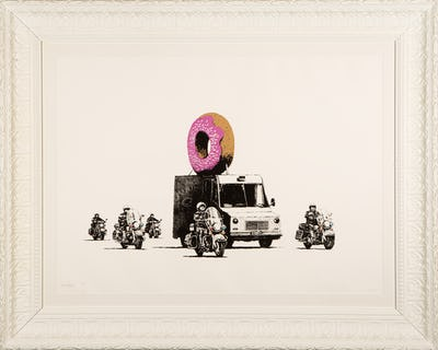 DEODATO ART Banksy - Strawberry Donuts silkscreen, paper