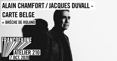 Alain Chamfort & Jacques Duvall - carte belge