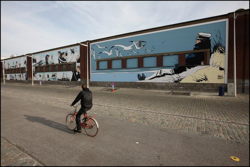 Balade à vélo à Bruxelles entre BD, Street Art et roman graphique