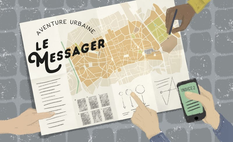 Aventure urbaine - Le Messager  klär.graphics