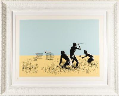 DEODATO ART Banksy - Trolleys - serigrafia carta - 50x70 cm