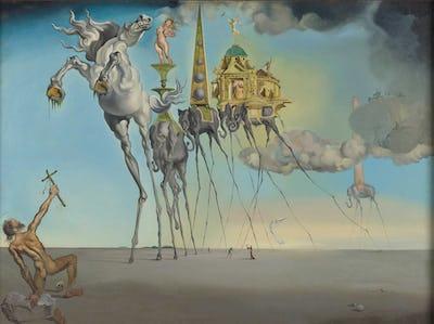 """— Salvador DALÍ – """"La tentation de Saint-Antoine"""" (1946)   © Salvador Dalí, Fundació Gala-Salvador Dalí, Figueres   photo : J. Geleyns - Art Photography"""