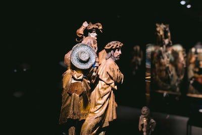 Fragmenten van het retabel van Bassine (bruikleen uit Koninklijke Musea voor Kunst en Geschiedenis Ⓒ KBR
