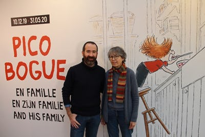 Alexis Dormal and Dominique Roques, ©Daniel Fouss / Comics Art Museum