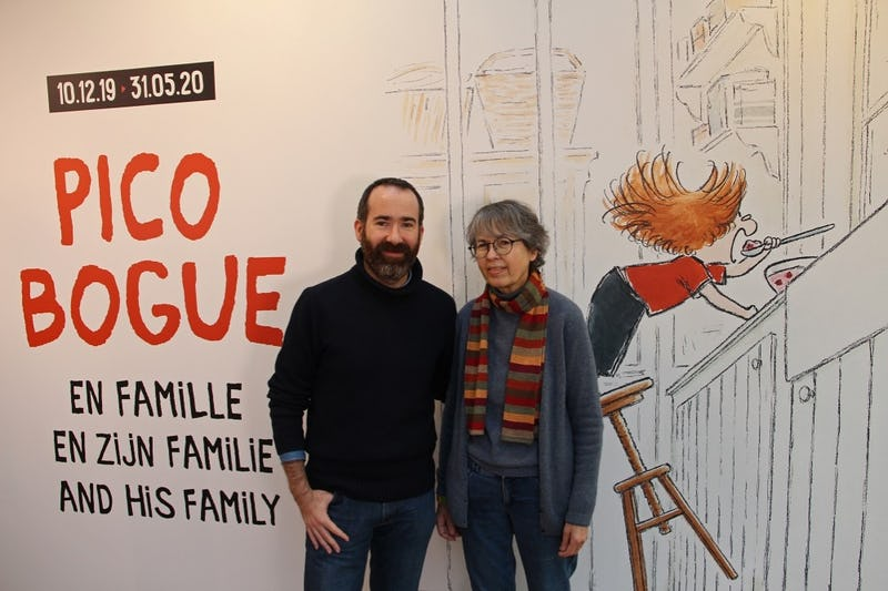 Pico Bogue en famille Alexis Dormal and Dominique Roques, ©Daniel Fouss / Comics Art Museum