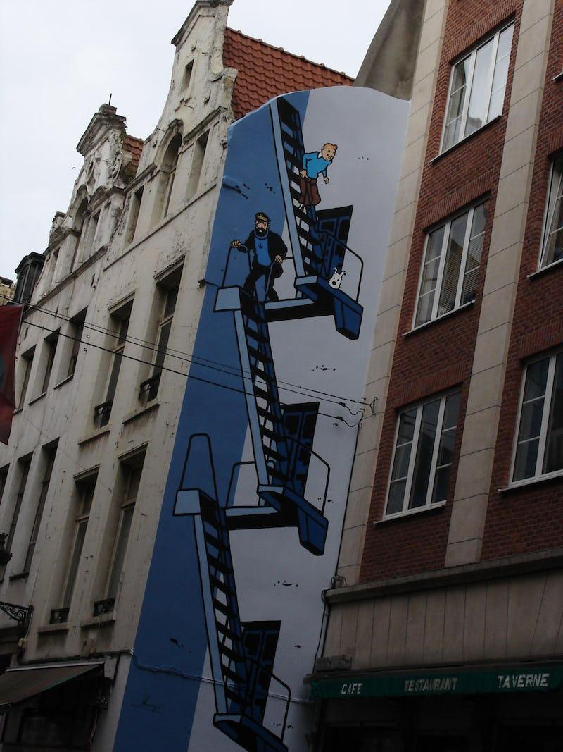 Jeu extérieur: les fresques BD à Bruxelles Daniel Fouss / CBBD