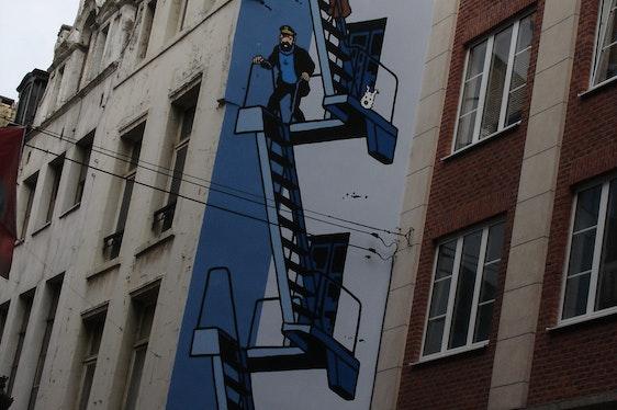 Jeu extérieur: les fresques BD à Bruxelles