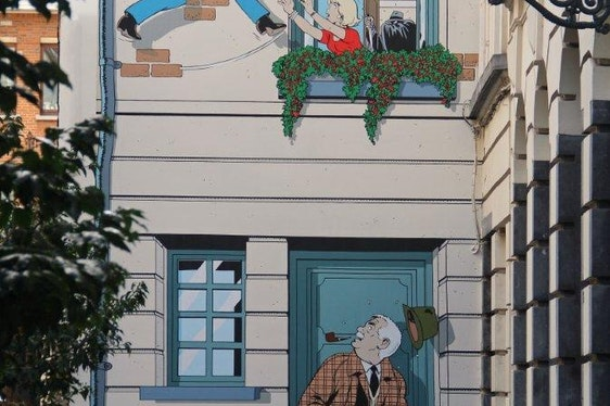 Discover the Brussels comic book murals