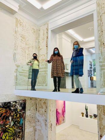 Caption: Nele Verhaeren, Co-director Art Brussels, Alexia van Eyll, Director Nino Mier Gallery, Anne Vierstraete, Director Art Brussels