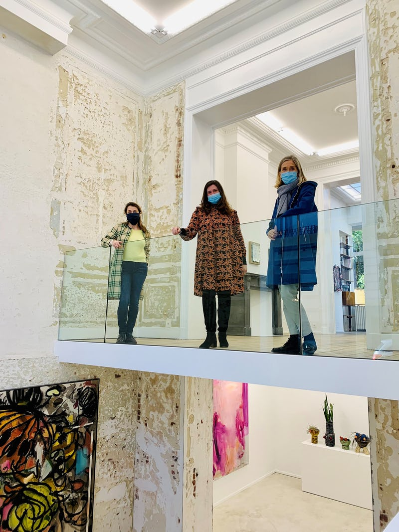 Art Brussels Week Caption: Nele Verhaeren, Co-director Art Brussels, Alexia van Eyll, Director Nino Mier Gallery, Anne Vierstraete, Director Art Brussels