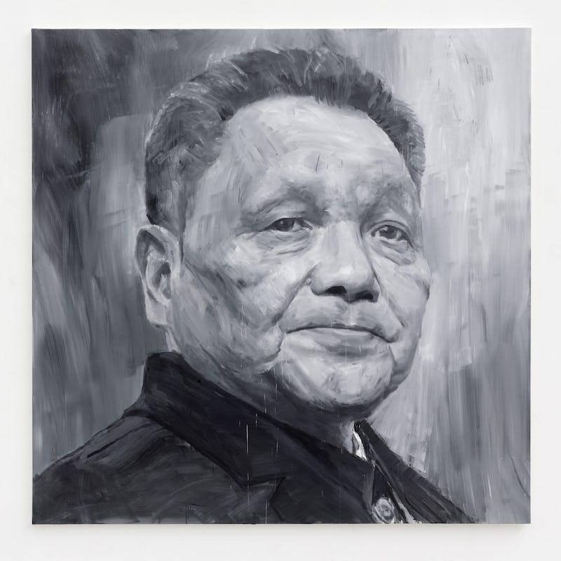 Icons Yan-Pei Ming Deng Xiaoping (1904-1997) , 2021 © Clérin Morin