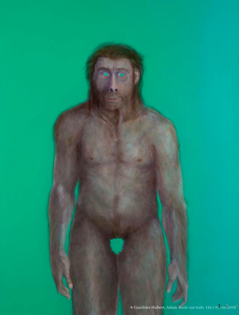 Gauthier Hubert - …Fils de… (Les Retrouvailles) M01-©-Gauthier-Hubert,-Adam,-huile-sur-toile,-119-x-84-cm,-2019