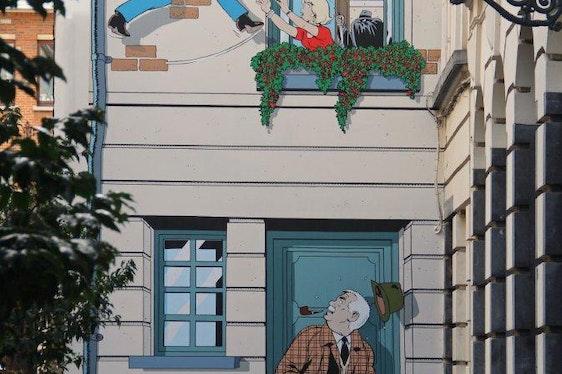 Découvrez les fresques BD de Bruxelles