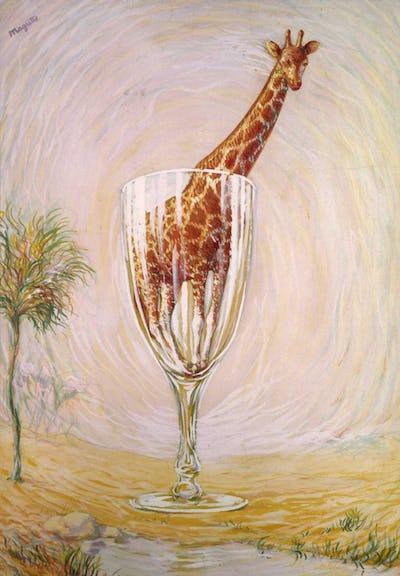 — René MAGRITTE – « Le bain de cristal » (1946)   Collection privée   © MRBAB, Bruxelles © 2019, Succession Magritte c/o SABAM