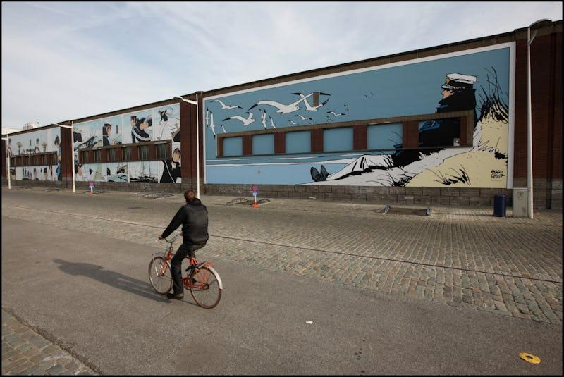 Fietstocht in Brussel tussen strips, street art en graphic novels