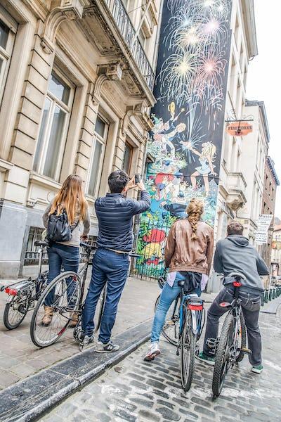 Ontdek de nieuwe fresco's van Brussel met de fiets