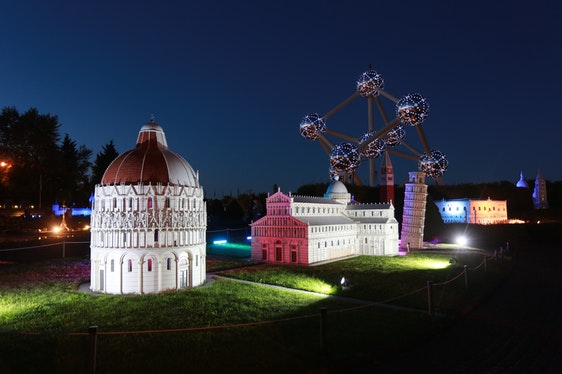 Mini-Europe By Night