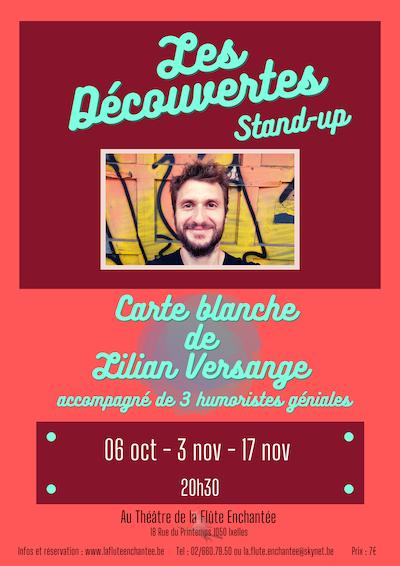 Les Découvertes stand-up - carte blanche de Lilian Versange