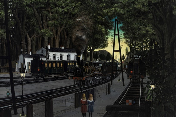 Paul Delvaux. The man who loved trains