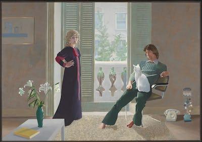 David Hockney Mr. and Mrs. Clark and Percy , 1970–1971 Acrylverf op doek, 213,4 x 304,8 cm Tate: Schenking door de Vrienden van de Tate Gallery 1971 © David Hockney