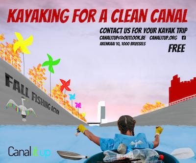 Faire du kayak pour un canal plus propre