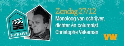 SJTN Live. Monoloog van schrijver, dichter en columnist Christophe Vekeman