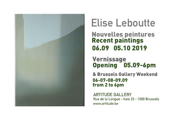 Elise Leboutte - peintures récentes Artitude - Into image