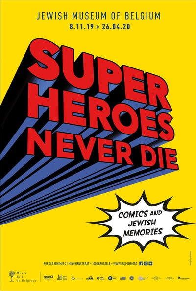 Superheroes never die. Comics and Jewish memories