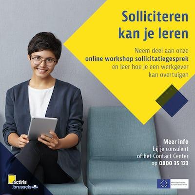 """Workshop """"Entretien"""" (en néerlandais) - en ligne"""