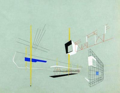 Ivan Picelj, Vjenceslav Richter, Aleksandar Srnec, Design for the Yugoslav Pavilion at Paris Fair, 1950. (MSU Zagreb)