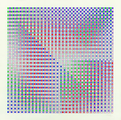 Vjeneslav RIchter, Systemic Graphic 2 (photo: Ana Opalic, / Richter Collection, MSU Zagreb)