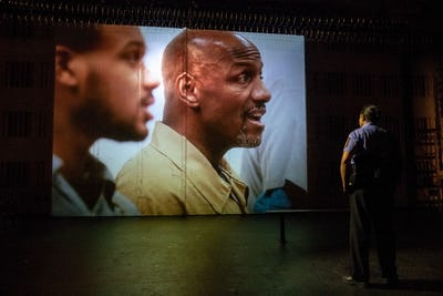 "HEARTBEAT OPERA, New York, Fidelio, Contemporary American ""Black Lives Matter"" adaptation of the opera of Ludwig van Beethoven, featuring 100 incarcerated singers from 6 US prison choirs and 70 outside volunteer singers, 2018."