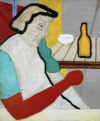 Roger Raveel, Femme au bras rouge, 1949-1951, Collection de la Communauté flamande/Musée Roger Raveel © Raveel  MDM. Photo: Peter Claeys