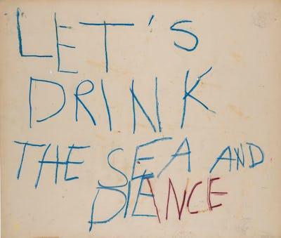Let's drink the sea © Estate Philippe Vandenberg
