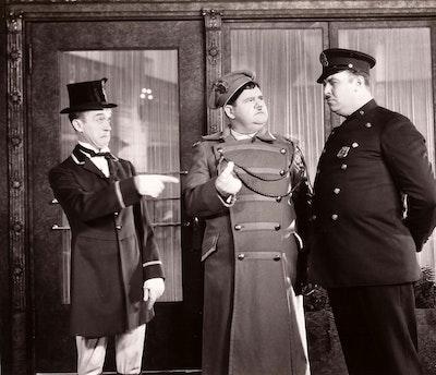 "UFA FILM NIGHTS - ""Laurel & Hardy"" par Trio Grande, Collectif du Lion Laurel & Hardy (double whoopee) © GR-DR"
