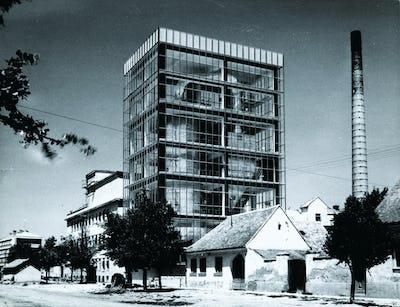 Saponia Factory, Osijek (with architect Josip Tešija), 1960-61, (Vjenceslav Richter Archive, MSU Zagreb)