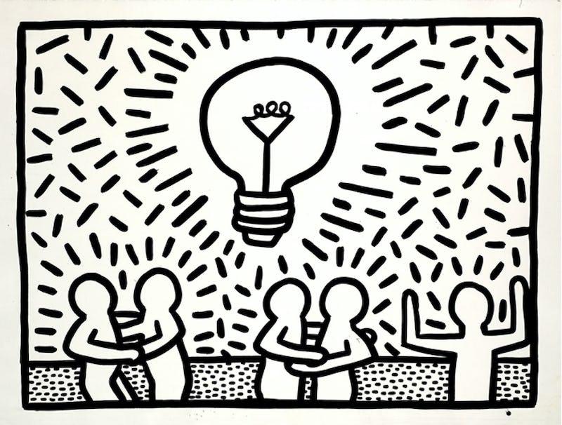 Keith Haring (PROLONGÉE) Keith Haring artwork, 1981 © Keith Haring Foundation