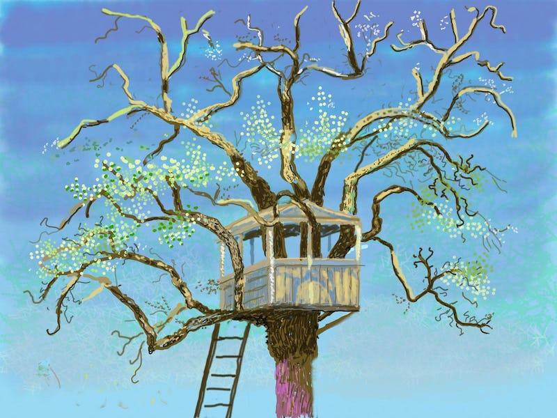 """David Hockney : L'arrivée du printemps, Normandie, 2020 'David Hockney, """"No. 125"""", 19th March 2020, iPad painting © David Hockney"""