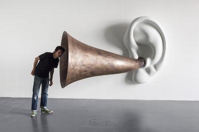 John Baldessari, Beethoven's Trumpet (With Ear) Opus # 133, 2007 © The Estate of John Baldessari. Courtesy the Estate of John Baldessari and Sprüth Ma