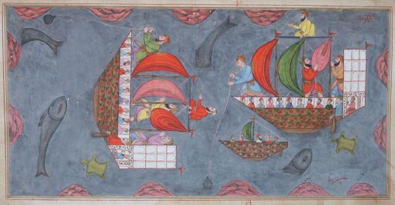 A Passage to Asia Anis-al-Hajjaj(Deccan),1666,Manuscript,H39,5xW22,5cm,Chhatrapati Shivaji Maharaj Vastu Sanghrahalaya,Mumbai,India