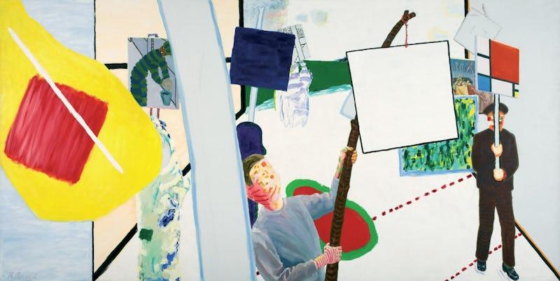 Roger Raveel Roger Raveel, Le Cortège de peintures de 1978 de Machelen-sur-Lys, 1978, Collection Museum Arnhem © Raveel  MDM