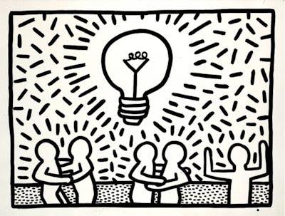 Keith Haring artwork, 1981 © Keith Haring Foundation