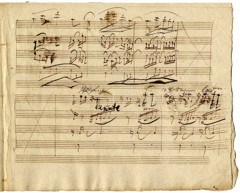 HOTEL BEETHOVEN Ludwig van BEETHOVEN, Third Movement of the Quartet in F Major, opus 135 (Lento assai e cantante tranquillo), 1826, Autograph score. Musée royal de Ma