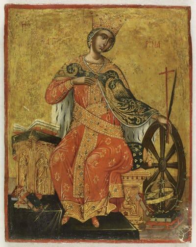Unknown Sainte-Catherine d'Alexandrie , Fin du XV - début du XVIe siècle
