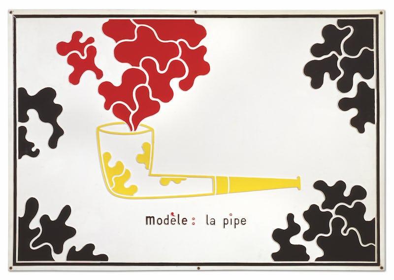 Marcel Broodthaers : Poèmes industriels, lettres ouvertes  Marcel Broodthaers, Modèle / la pipe, 1968-69 © Succession Marcel Broodthaers – Sabam 2021