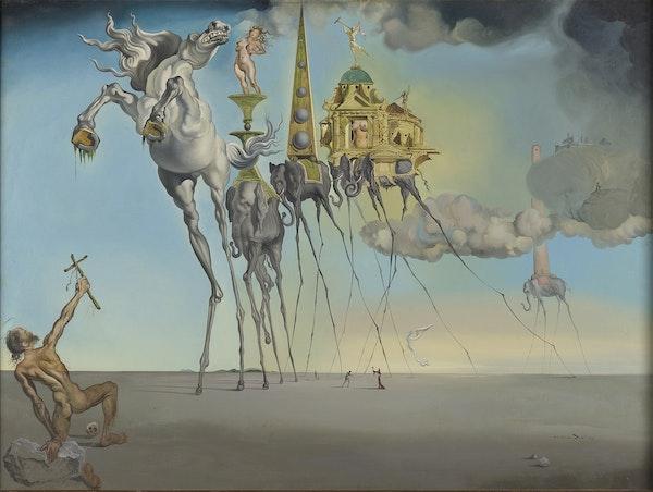 Dalí & Magritte DALI The-Temptation of St-Anthony