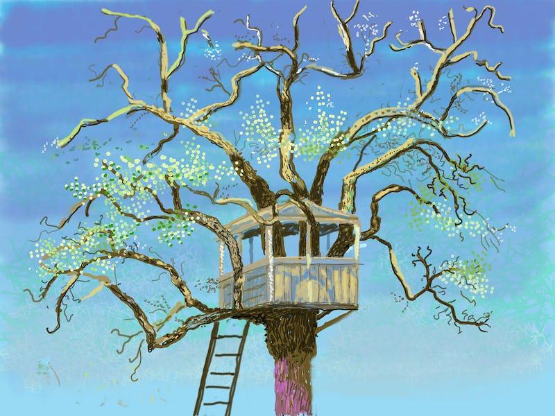 """David Hockney : L'arrivée du printemps, Normandie, 2020 David Hockney """"No. 88"""", 3rd March 2020 iPad painting © David Hockney"""
