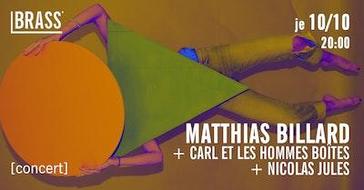 Matthias Billard + Les hommes-boîtes + Nicolas Jules | FrancoFaune 19